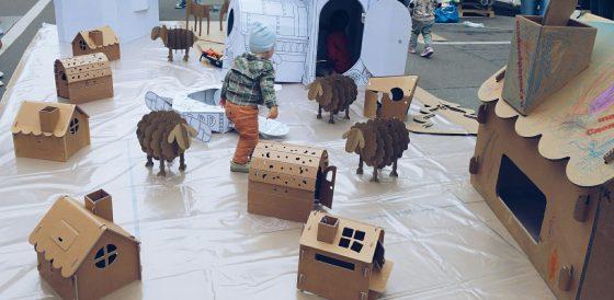Картонный город для малышей